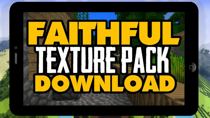 original faithful resource pack minecraft pocket edition