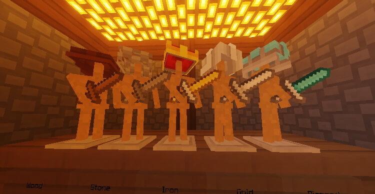 Minecraft Paper Cut Out Sword Screenshot