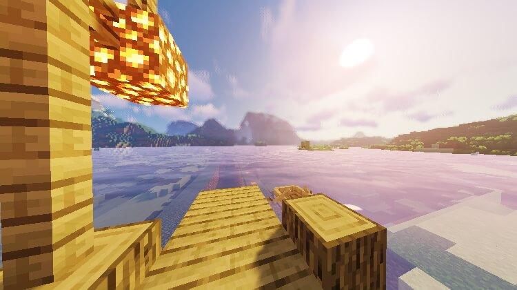 Sildurs Vibrant Shader Water in Minecraft