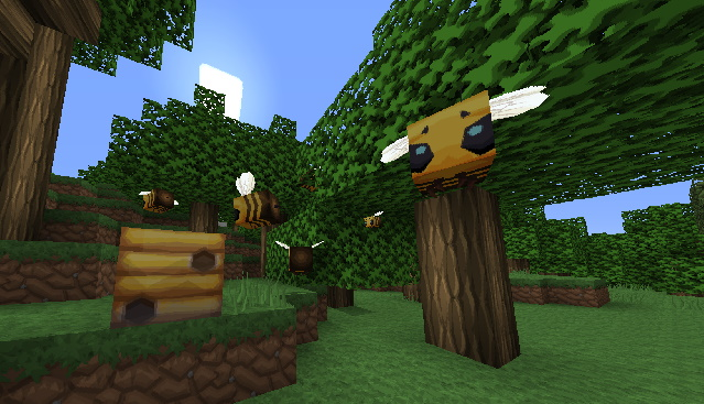 VanillaBDcraft 1.15 Bees in Minecraft