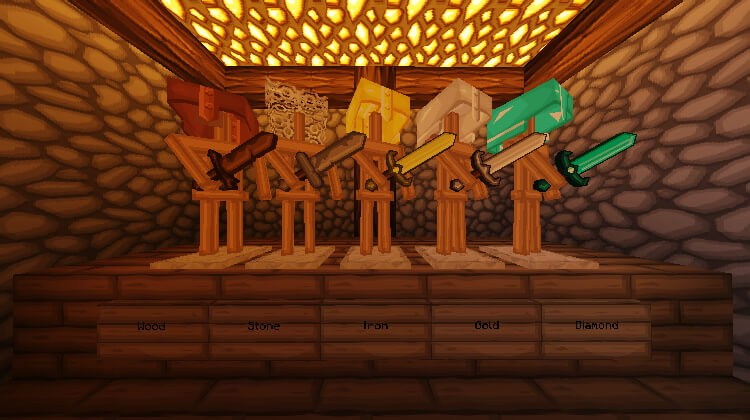 VanillaBDcraft Swords in Cartoon Style