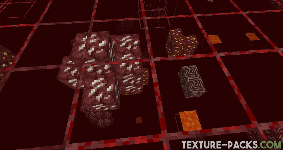 X-Ray Texture Pack in Nether with ancient debris