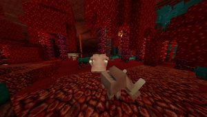Minecraft Mob Hoglin in the John Smith Legacy 1.16 Texture Pack