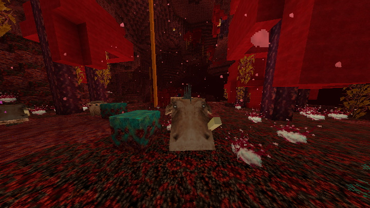 Hoglin in Crimson Forrest with Nether Update