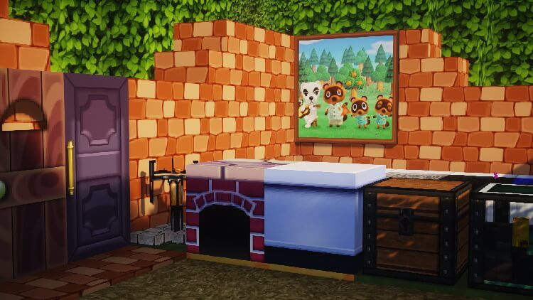 Animal Crossing painting in Minecraft