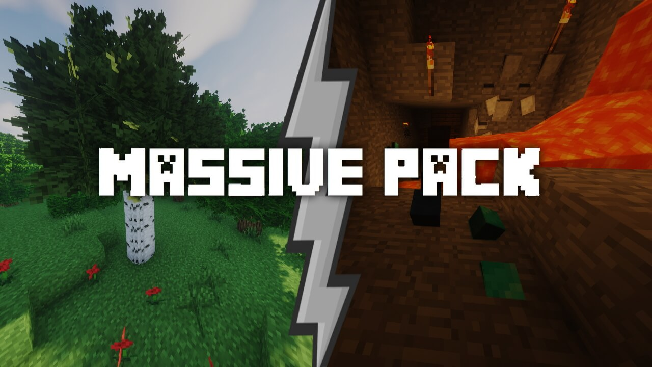 Massive Texture Pack 1 16 5 1 16 4 1 15 Round Trees Better Ores