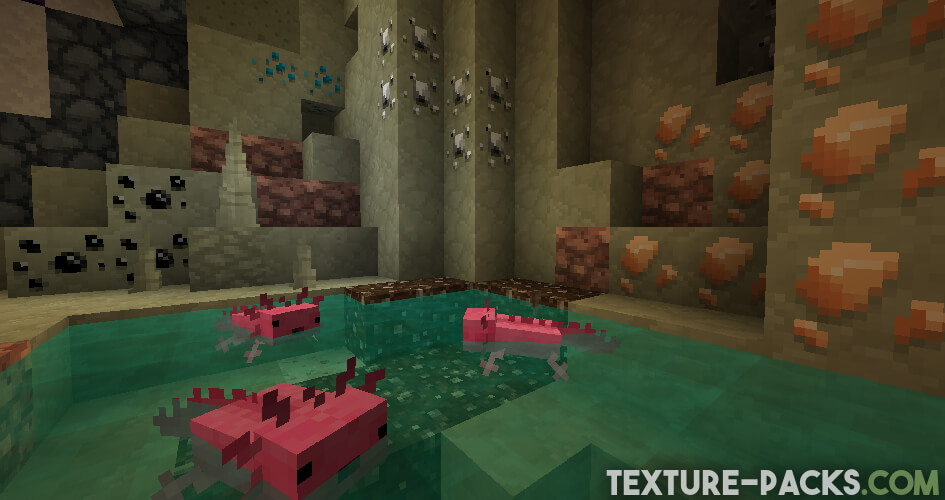 Minecraft cave with jolicraft texture pack
