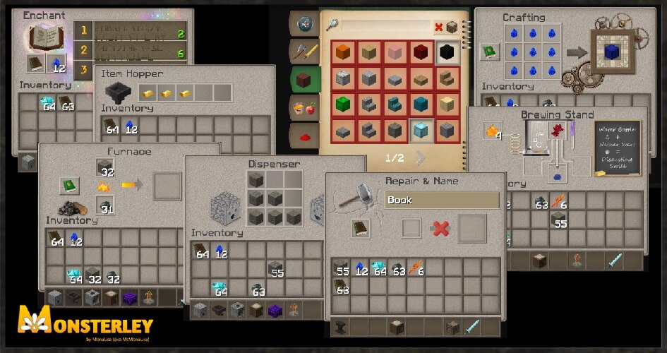 Monsterley Texture Pack Inventory