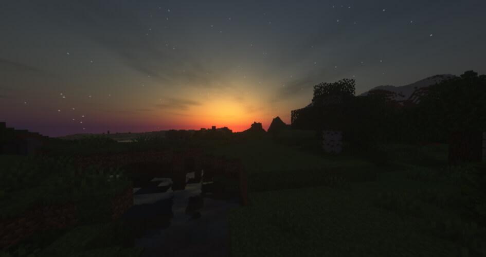 SEUS Shaders Screenshot Night