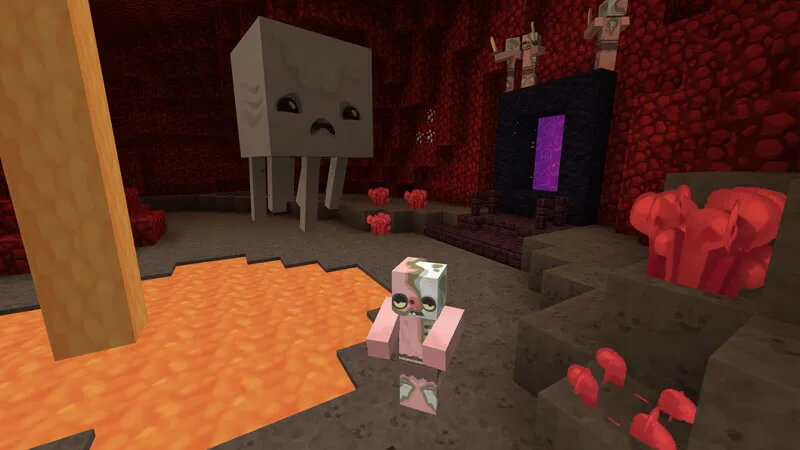 ZigZag Resource Pack in Nether