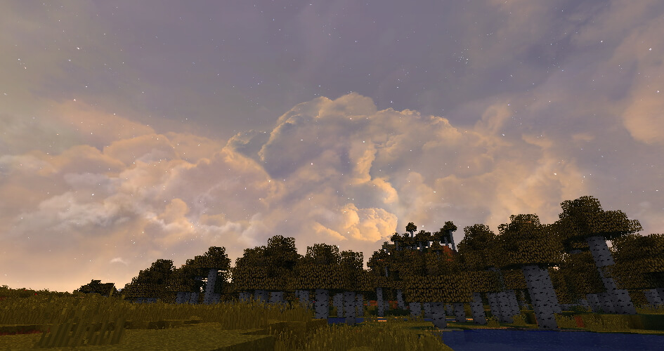 Dramatic Skys Resource Pack Sunset