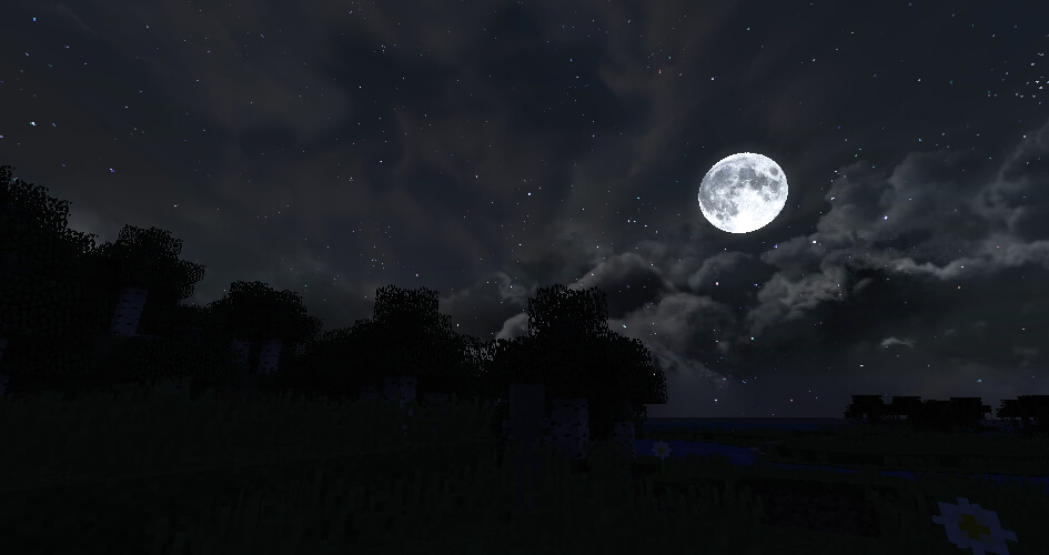 Dramatic Skys Texture Pack Night Screenshot
