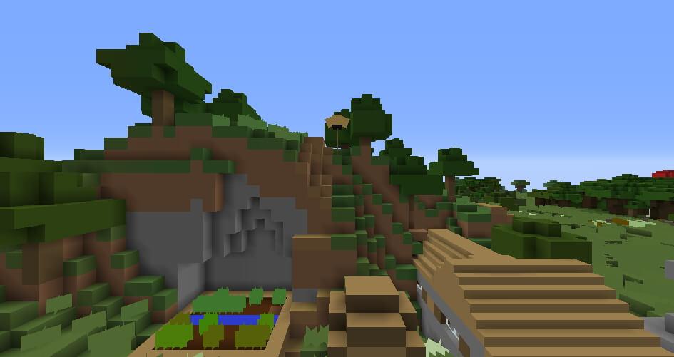 1x1 Texture Pack for Minecraft Screenshot