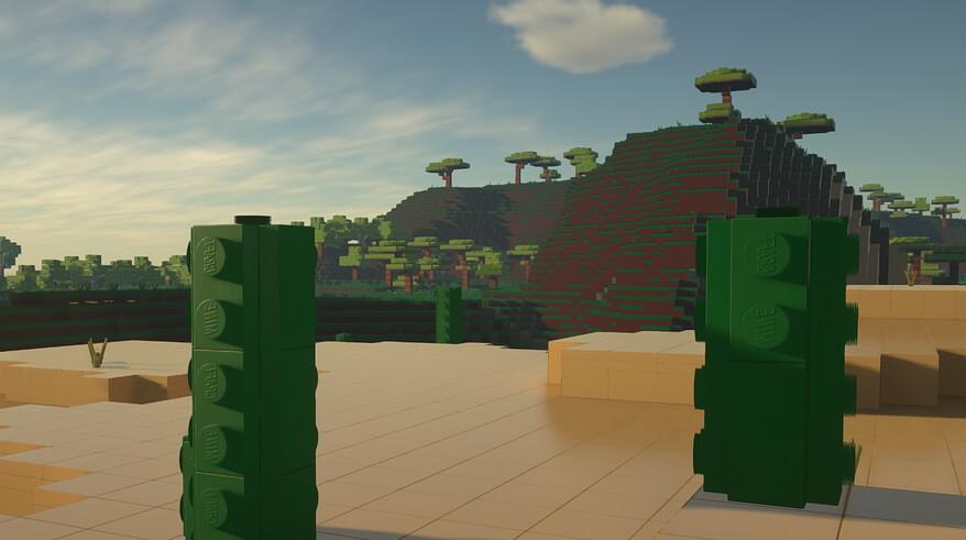 LEGO bricks in Minecraft