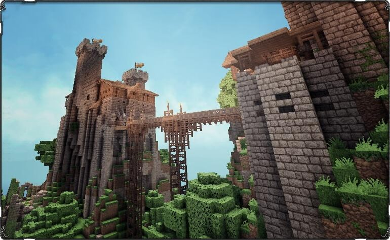 Medieval castle with resource pack