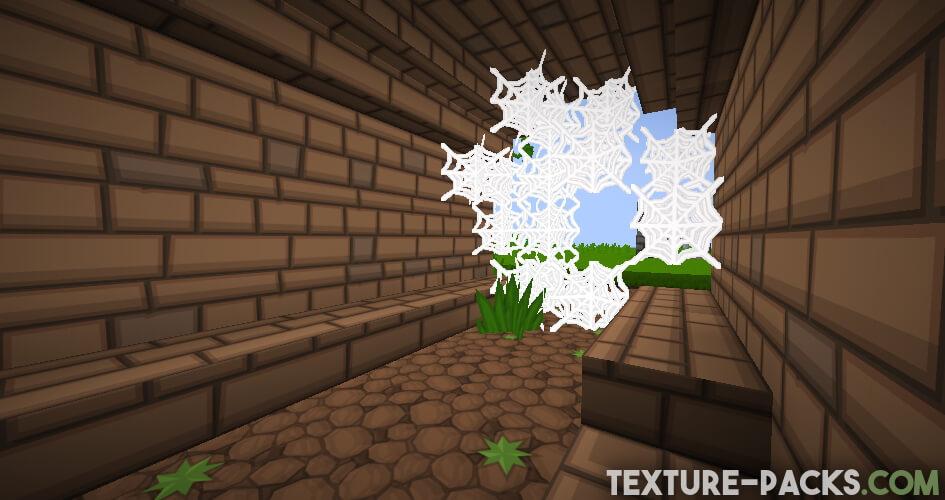 Cartoon texture pack in Minecraft