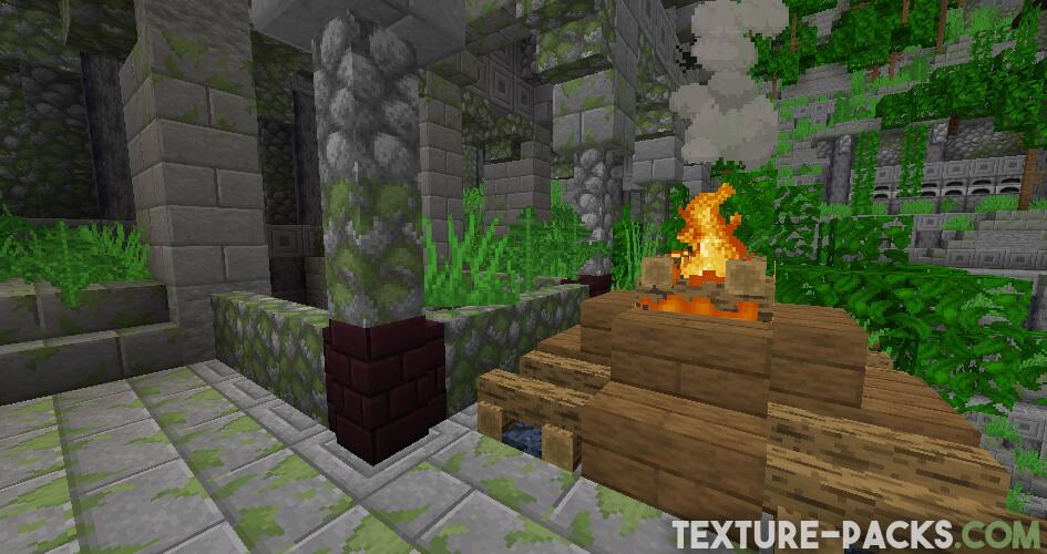 Captura de pantalla del juego del pack de texturas Faithful