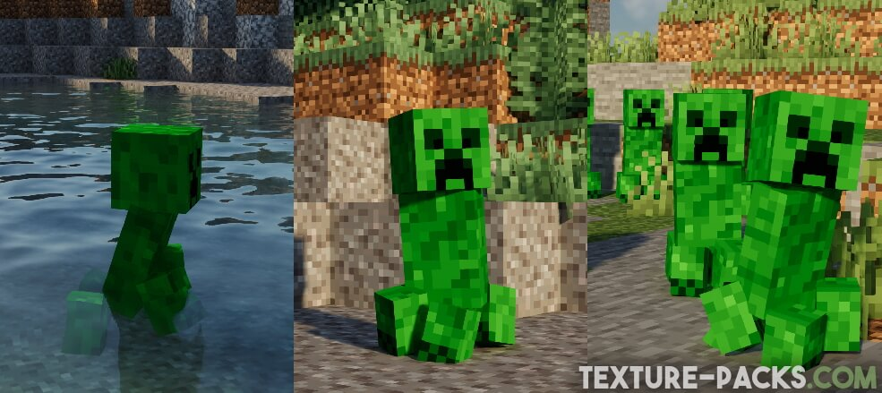 Improved Creeper with realistic legs