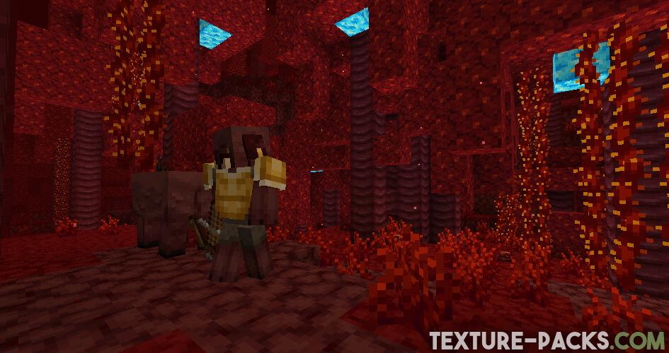 Jicklus texture pack nether screenshot