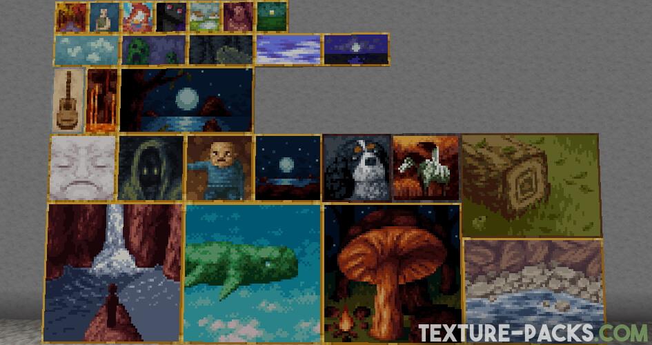 Jicklus texture pack paintings screenshot