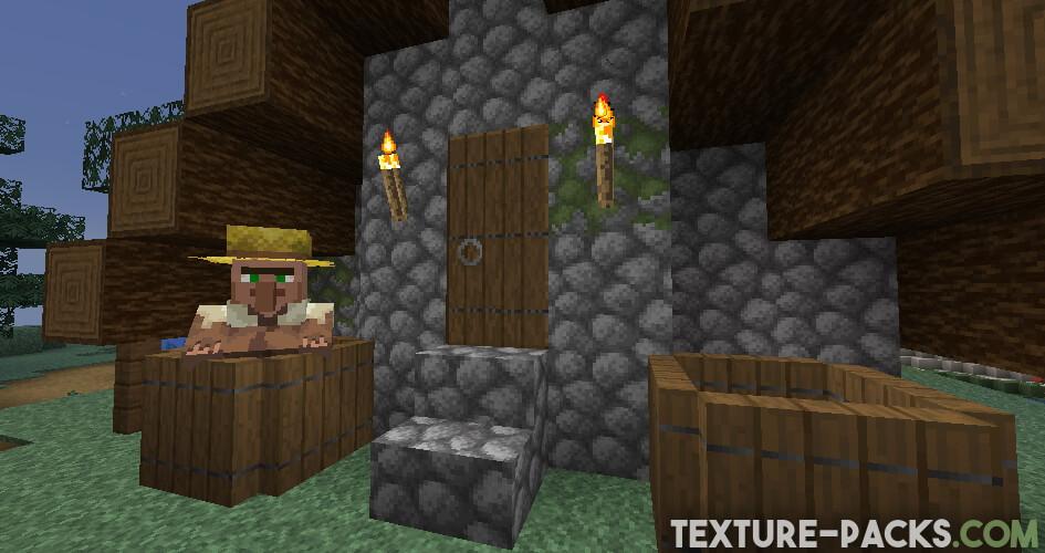 Minecraft Villager with higher resolution