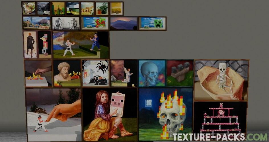 HD paintings in Minecraft