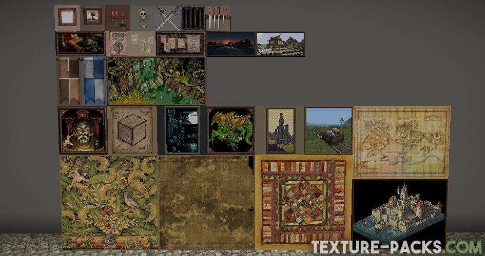 John Smith Legacy Texture Pack paintings screenshot