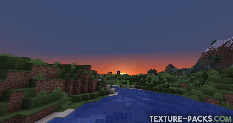 Minecraft Vanilla without SEUS Shader 1.17.1