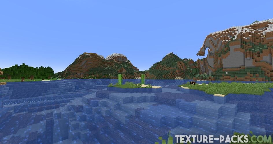 Minecraft Vanilla without Sildurs Vibrant Shader 1.17.1