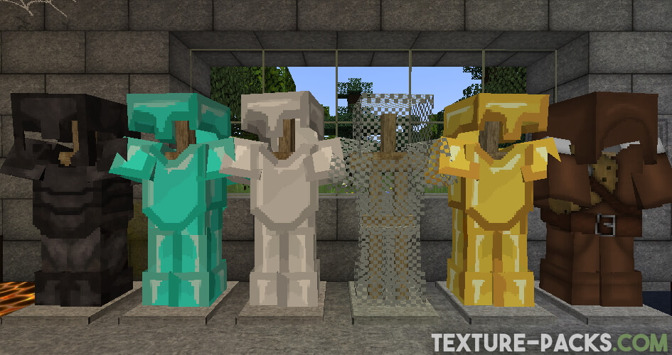 Minecraft armor with high resolution textures