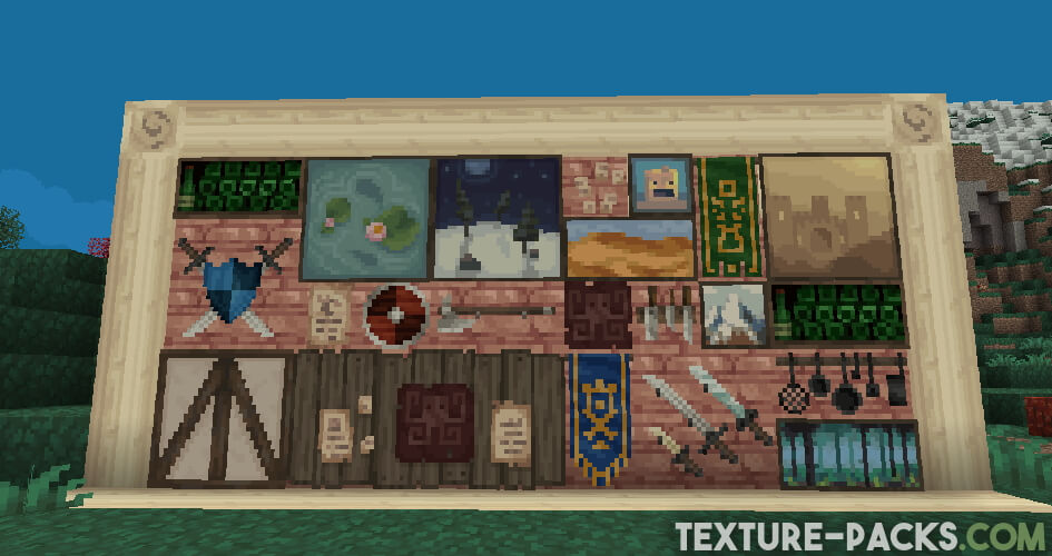 Minecraft medieval paintings