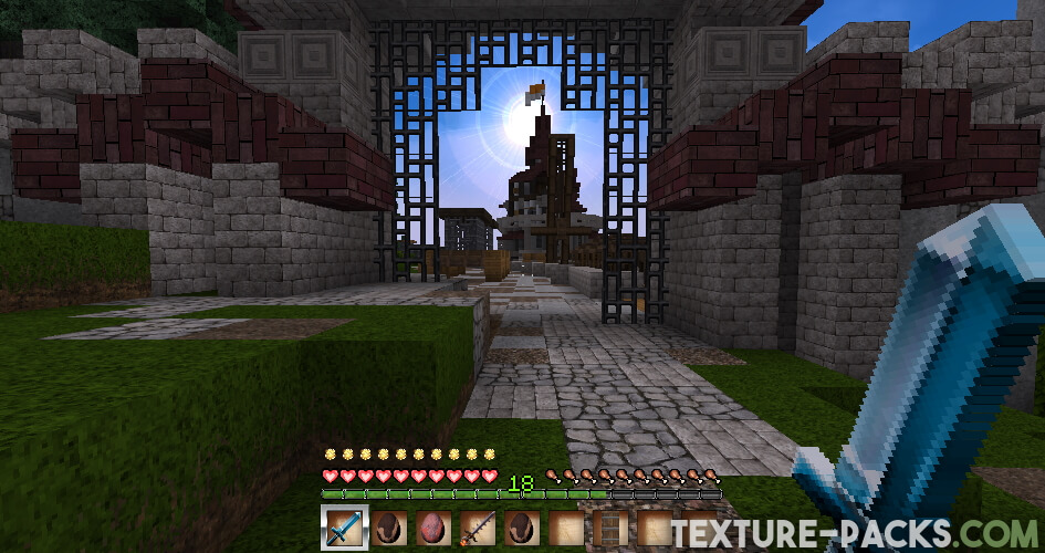 Realistic and medieval textures in Minecraft