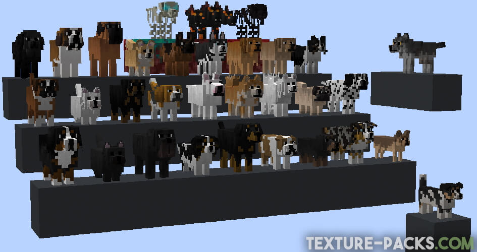 All new Dogs in Minecraft