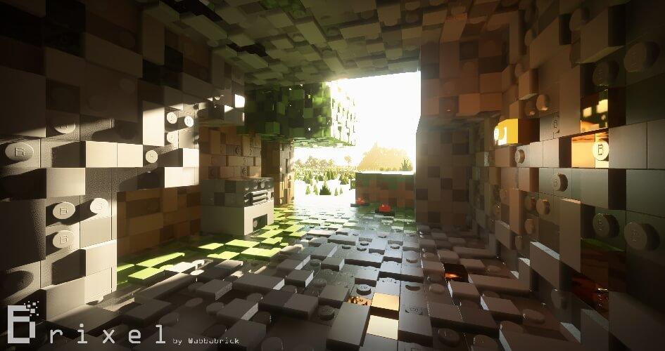 Brixel Texture Pack screenshot with shader