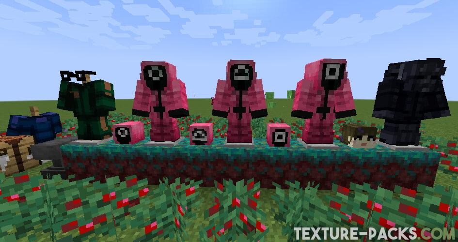 Squid Game Texture Pack armor screenshot